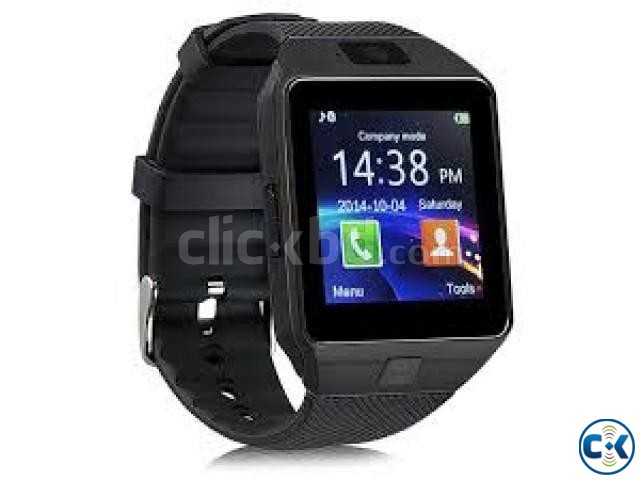 D09 Smartwatch SIM Camera Android Phone Full Touch-Gold | ClickBD large image 0