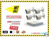 Hikvision 4 Pcs CC Camera Package