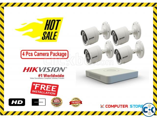 Hikvision 4 Pcs CC Camera Package  | ClickBD large image 0