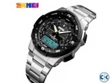 Skmei 1370 Men Digital Stainless Steel 5ATM Waterproof Wrist