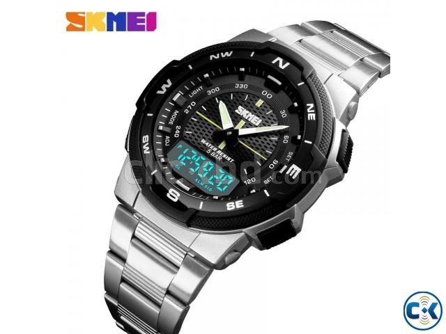 Skmei 1370 Men Digital Stainless Steel 5ATM Waterproof Wrist | ClickBD large image 0