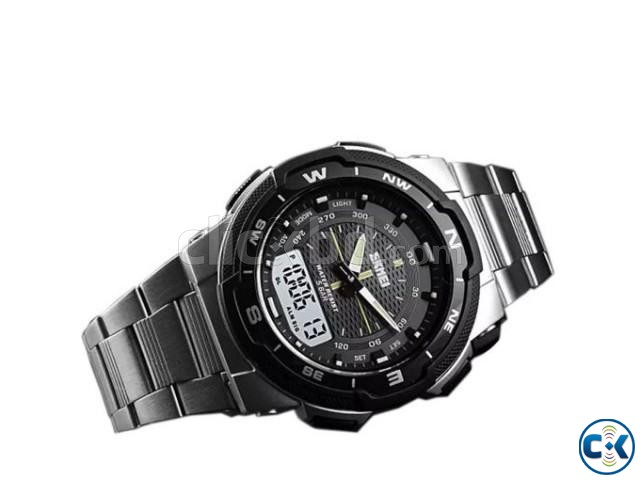 Skmei 1370 Men Digital Stainless Steel 5ATM Waterproof Wrist | ClickBD large image 2