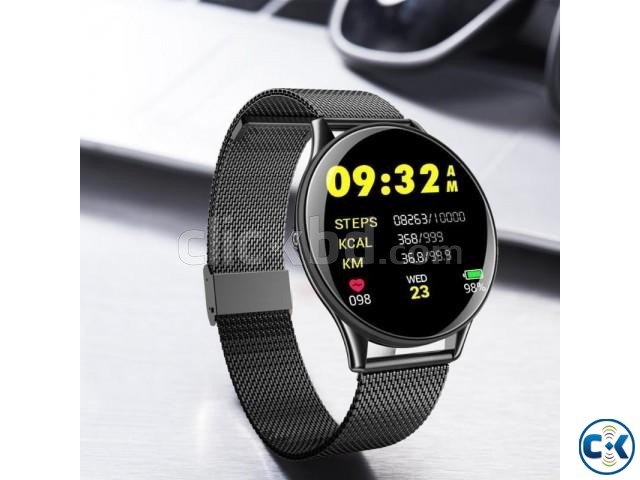 SN58 Smart Watch Waterproof Heart Rate Blood Pressure 2.5D T | ClickBD large image 1