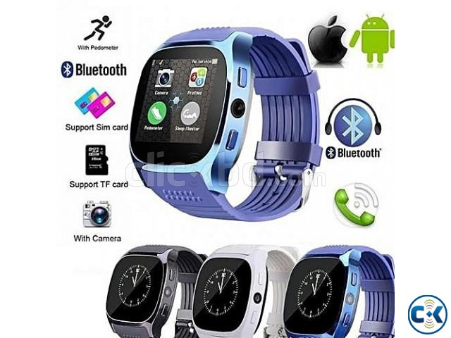 T8 Smartwatch Full Touch Single Sim | ClickBD large image 4