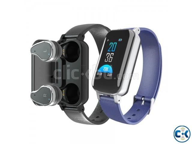 T89 2 in 1 Color Screen Bluetooth 5.0 Wireless Bluetooth Dua | ClickBD large image 0