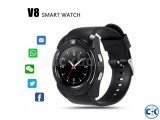 V8 Smartwatch Bluetooth Touch Screen Single Sim with Camera