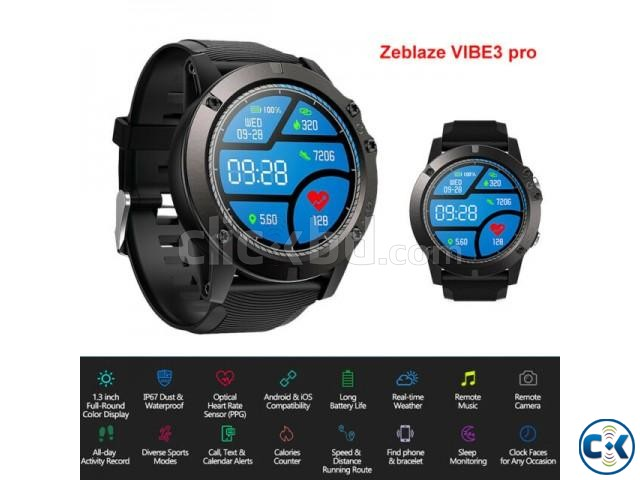 Zeblaze VIBE 3 PRO Color Touch Display Smartwatch Heart Rate | ClickBD large image 3