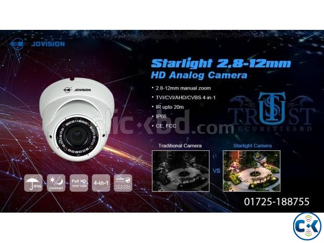 Jovision 2MP Starlight Dome Camera JVS-N835-YWC-R4 | ClickBD large image 1