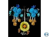 Multi color artificial flower ornaments