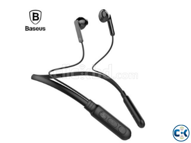 BASUES ENCOK 16 Neck hang wireless Magnetic Bluetooth EarPh | ClickBD large image 4