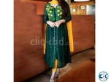 Unstitched Deep Green Georgette Kurti for Women