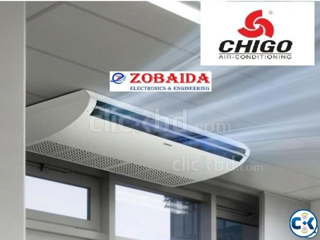 4.0 Ton CHIGO Celling Cassette Type Air - Conditioner AC | ClickBD large image 0