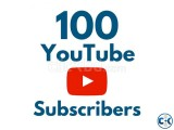 100 YouTube Subscribers 100 Real money-back guaranty