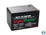 AlphaPower Battery 12V 12Ah 20HR for UPS Medical and others