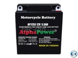 AlphaPower AGM Motorcycle Battery 12V 5.5Ah from Taiwan