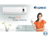GREE AC 1.5 ton With 5 years Warranty With 10 Feel Copper