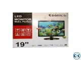 Esonic 19 Inch 1366 x 786 Wide Screen HD LED Monitor