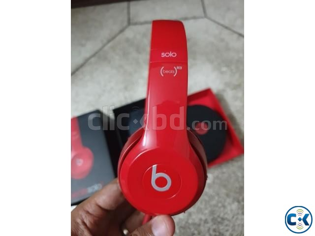 Original Beats by Dr. Dre Solo2 Wired On-Ear Headphones RED | ClickBD large image 0