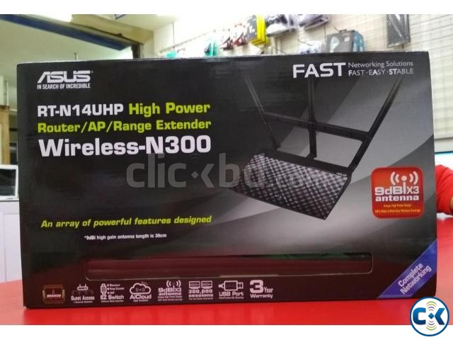 Asus RT-N14UHP High Power N300 3-in-1 Wi-Fi Router Access | ClickBD large image 2