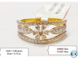 Diamond with Gold Ring 50 OFF