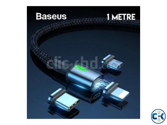 BASEUS Zinc Magnetic USB Cable with 3 Magnetic Converter | ClickBD large image 1