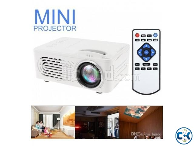 RD814 Mini LED Projector video Game Beamer AV SD USB Built-i | ClickBD large image 0