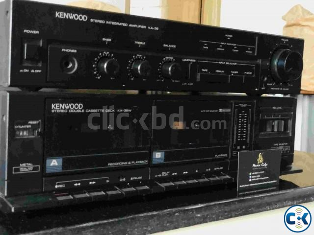 KENWOOD AMPLIFIER WITH CASSET DECK RUNNING. | ClickBD large image 0