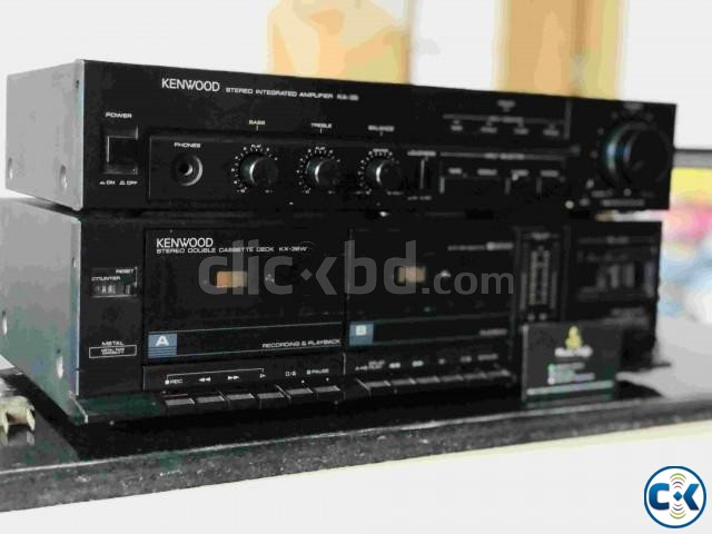 KENWOOD AMPLIFIER WITH CASSET DECK RUNNING. | ClickBD large image 1