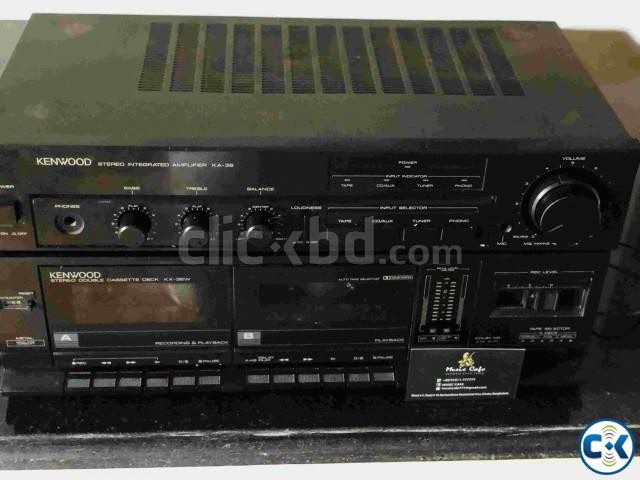 KENWOOD AMPLIFIER WITH CASSET DECK RUNNING. | ClickBD large image 2