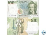 Italian Lira Card Original