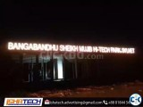Acrylic Top Letter and LED Light Signage with Outdoor Signag