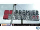 Neon Sign Billboard Premier Cement Structure with Step Board