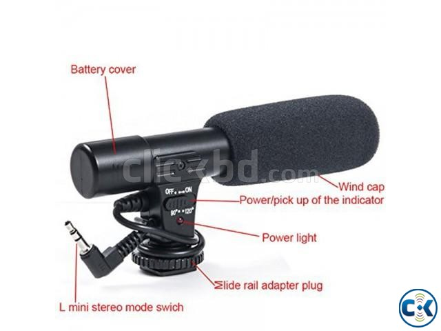 Microphone For Canon Nikon DSLR Camera DV Camcorder | ClickBD large image 1