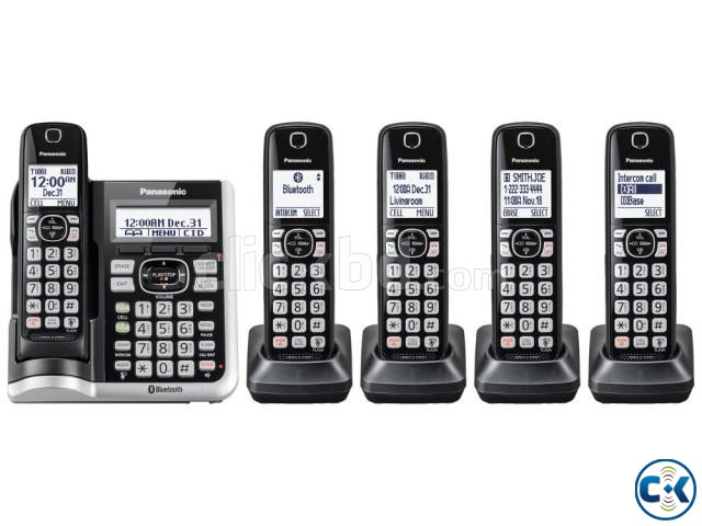 Panasonic Black Cordless Phone With 5 Handsets - KX-TGF545B | ClickBD large image 0