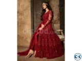 Indian Soft Georgette Gown Dress Maroon