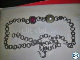 Ruby Yellow Pearl and Silver Chain for Sell