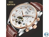 KINYUED Skeleton Tourbillon Mechanical Watch for Men