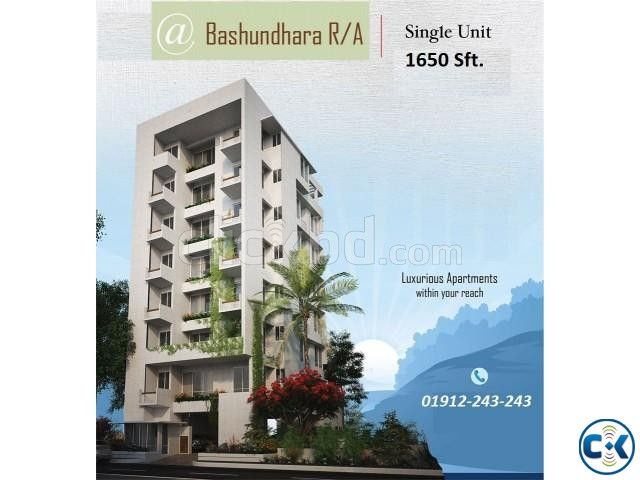 1700 Sft Bashundhara R A i Block Near Playpen School | ClickBD large image 0