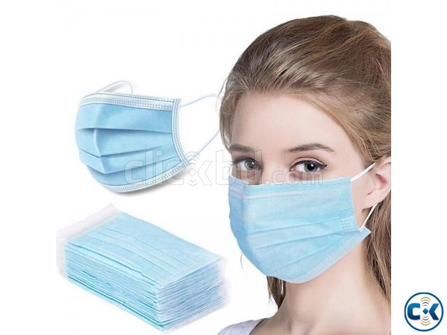 n19 3-Ply Surgical Mask with Nose Pin - 1 Box 50 pieces  | ClickBD large image 0