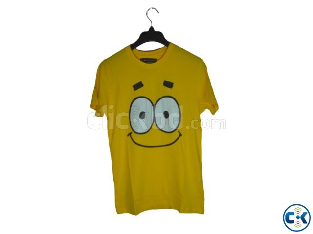 T-Shirt half sleeve yellow cotton | ClickBD large image 0