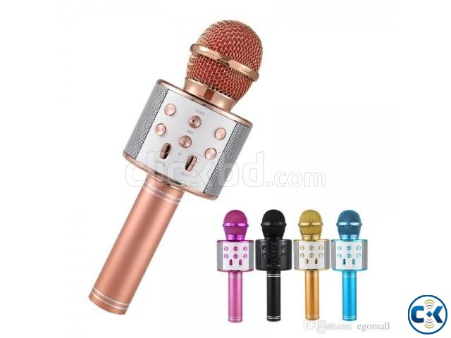 WS-858 karaoke Wireless microphone with Speaker | ClickBD large image 0