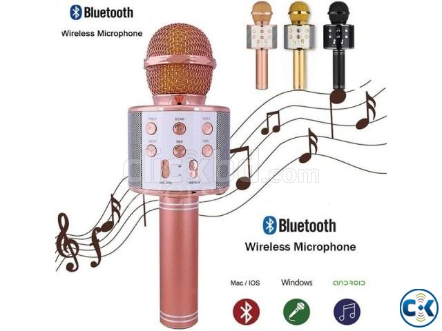 WS-858 karaoke Wireless microphone with Speaker | ClickBD large image 2