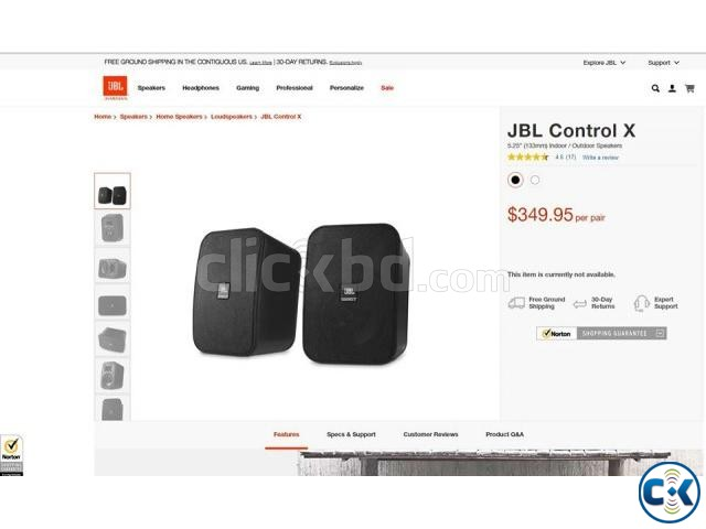 JBL CONTROL X WITH WALL MOUNT. | ClickBD large image 1