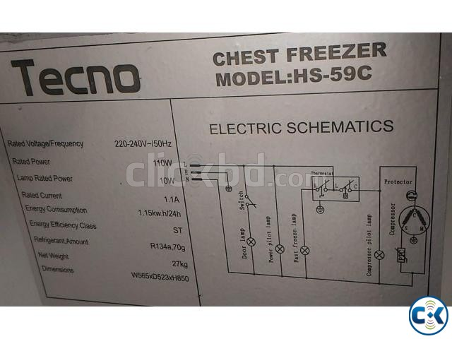TECNO HS-59C DEEP FRIDGE CHEST FREEZER 100 LITRE | ClickBD large image 0