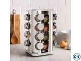 16 Jars Stainless Steel Spice Rack