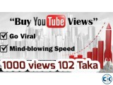 Buy YouTube views Subscribers 1k views 102 taka