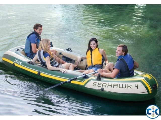 Intex Seahawk 4 Inflatable Air Boat 4 Person  | ClickBD large image 0