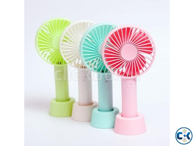 3-in-1 Mini Handheld Portable Rechargeable Fan ss-2 | ClickBD large image 1