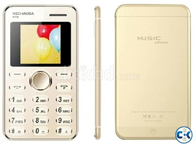 Kechaoda K116 Credit Card Size Mobile Phone | ClickBD large image 0
