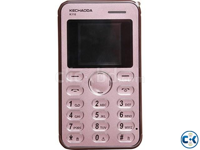 Kechaoda K116 Credit Card Size Mobile Phone | ClickBD large image 2